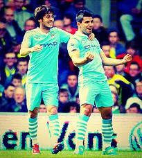 David Silva & Sergio Aguero - Manchester City